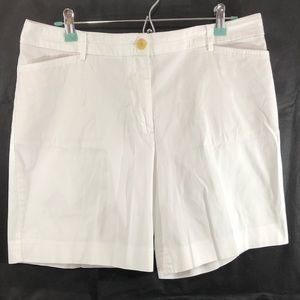 EUC TALBOTS The Perfect Shorts White Stretch 12